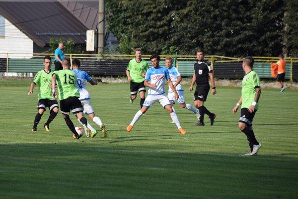 Stráňavy (v zelenom) si v minulom ročníku Slovenského pohára zahrali aj proti Košiciam.