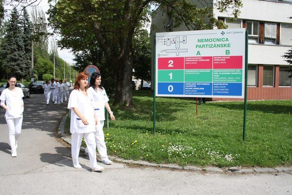 Nemocnica vPartizánskom.