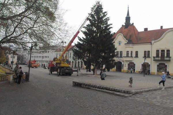 Vianočný stromček postavili na námestí 21. novembra.