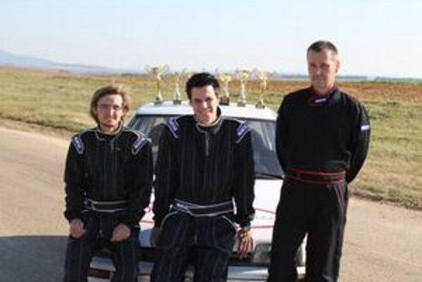 VM rally tím - zľava Pavol Michalec, Tomáš Vrábel a Milan Vrábel.