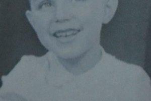 Karol Pajer ako dieťa.