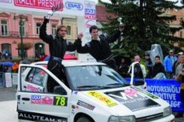 Posádka sa teší z tretieho miesta v Prešove.