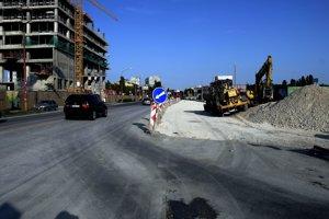 Rekonštrukcia ulice Mlynské nivy v Bratislave.