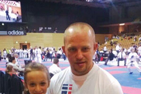 Katka Langová so svojím trénerom Tomášom Klemanom.