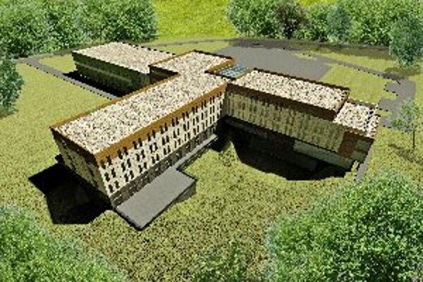 Budúci objekt golfového areálu.