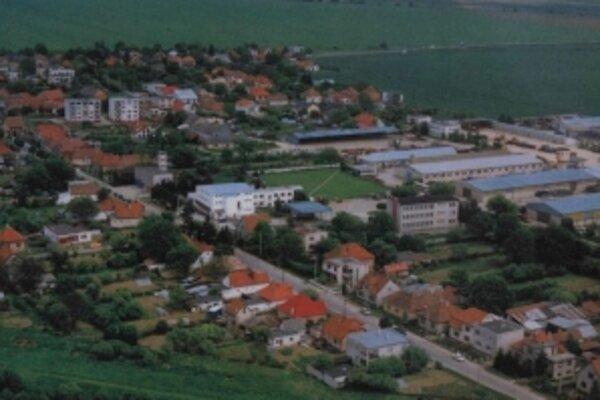 Letecký pohľad na Rybany.