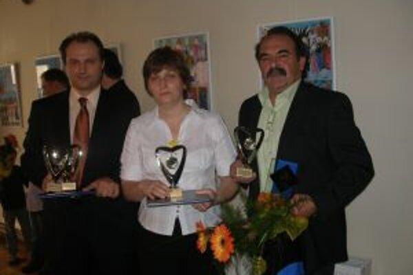 Ceny za športovcov prevzal Matúč Bajzík, Jana Balážová a Milan Medo.