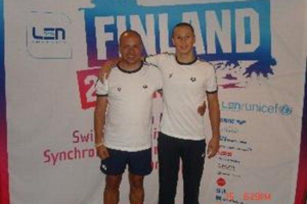 Tréner Vladimír Železník s Paľom Jelenákom.