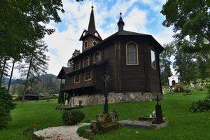 Drevený Kostol Svätej Anny v Tatranskej Javorine postavený v roku 1903.