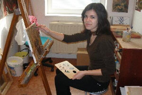 Ivana Paučeková najradšej maľuje temperovými farbami.