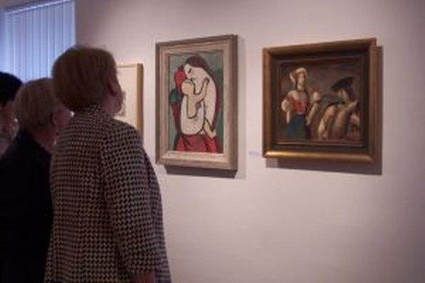 Na výstave venovanej tvorbe Mikuláša Galandu.