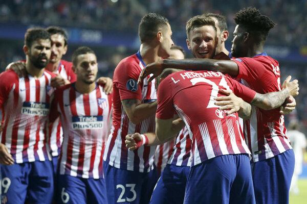 Futbalisti Atlética Madrid na ilustračnej fotografii.