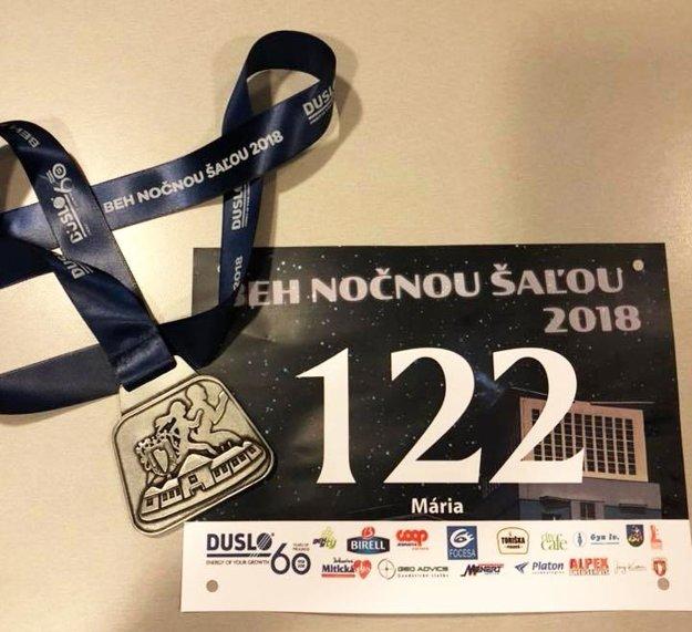 Každý bežec si odniesol pamätnú medailu.