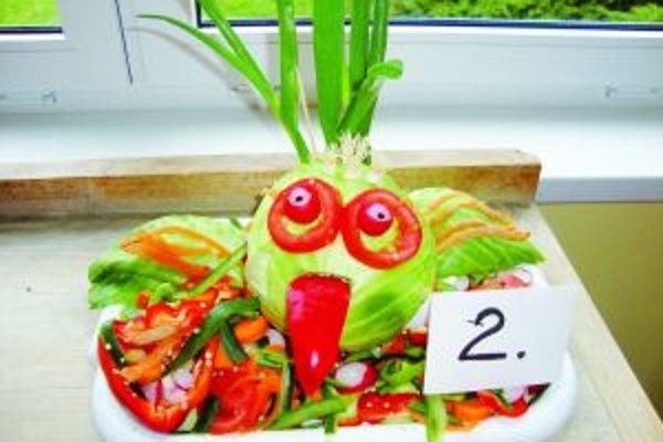 Aj takéto dielka vyrobili žiaci zo zeleniny.