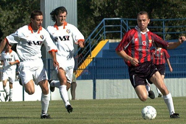 Ruslan Ljubarskij (vľavo) si v drese 1. FC Košice zahral skupinovú fázu Ligy majstrov.