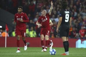 James Milner sa raduje zo svojho gólu.