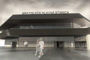 Vizualizácia hlavnej stanice v Bratislave.