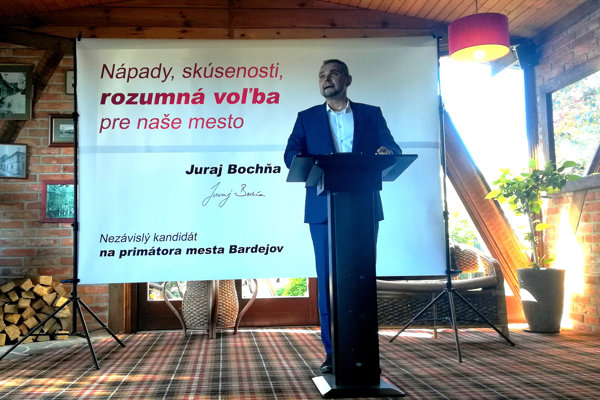 Minulý týždeň ohlásil kandidatúru na funkciu primátora mesta Juraj Bochňa. (FOTO: MARIO HUDÁK)