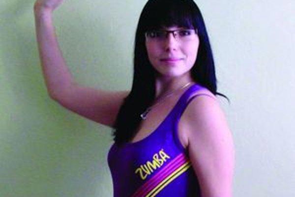 Lucia Kubíková- jedna z cvičiteliek.