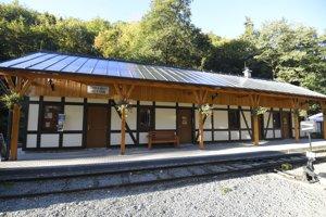 Na snímke nová staničná budova Košickej detskej historickej železnice v Čermeli.