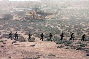 Vojaci špeciálnych jednotiek iránskych Revolučných gárd.