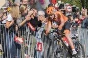 Na snímke holandská cyklistka a majsterka sveta Anna Van Der Breggenová počas pretekov v ženskej kategórii Elite na majstrovstvách sveta v rakúskom Innsbrucku 29. septembra 2018.