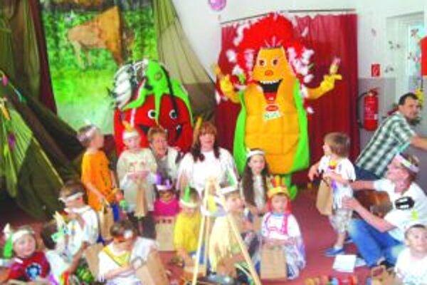 Deti v MŠ na Školskej ulici počas podujatia.