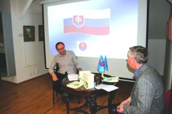 Ján Brezina na podujatí počas Slovesnej jari.