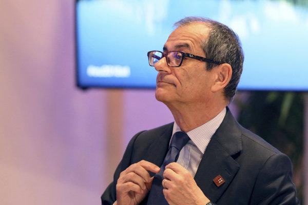 Taliansky minister financií a hospodárstva Giovanni Tria.
