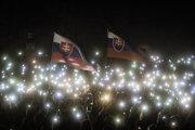 Demonštrácia Za slušné Slovensko.