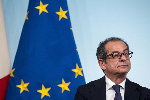 Taliansky minister financií Giovanni Tria.
