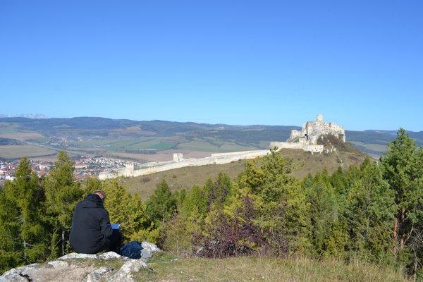 Pohľad na Spišský hrad.