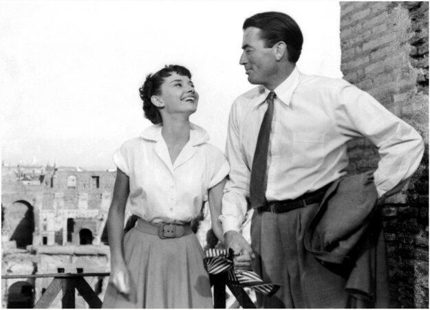 Audrey Hepburn a Gregory Peck.