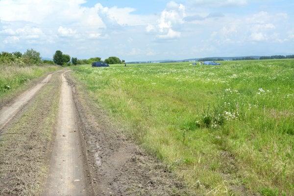 Pozemky, na ktorých by mal stáť priemyselný park.