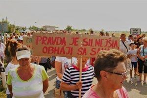 Protest v Nižnom Hrušove.