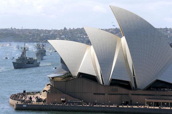 Ikonická budovy opery v austrálskom Sydney.