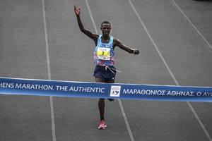 Kenský maratónsky bežec Samuel Kalalei.