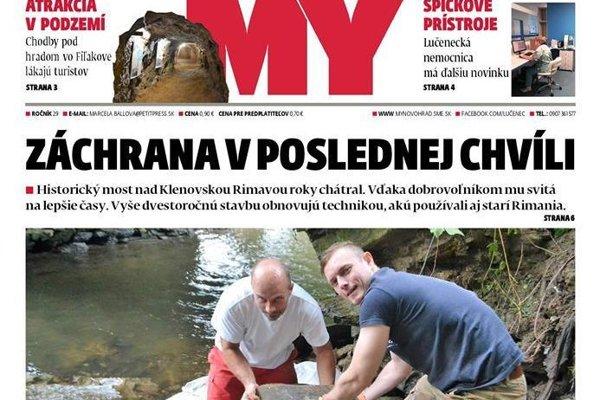 V časovej schránke sú uložené aj výstrižky z MY Novohradských novín, v ktorých sa o záchranných prácach písalo.