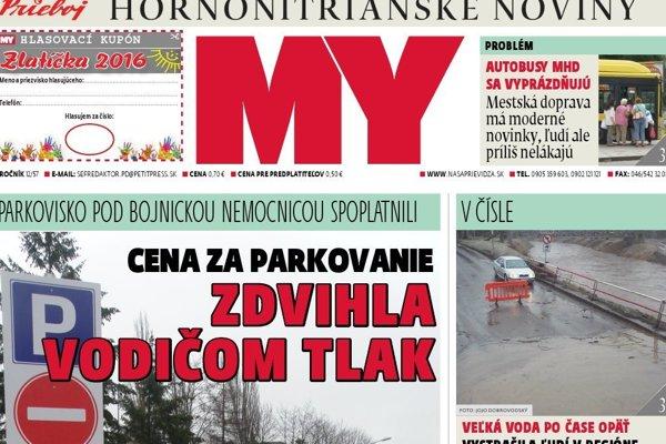 Nové číslo hornonitrianských novín
