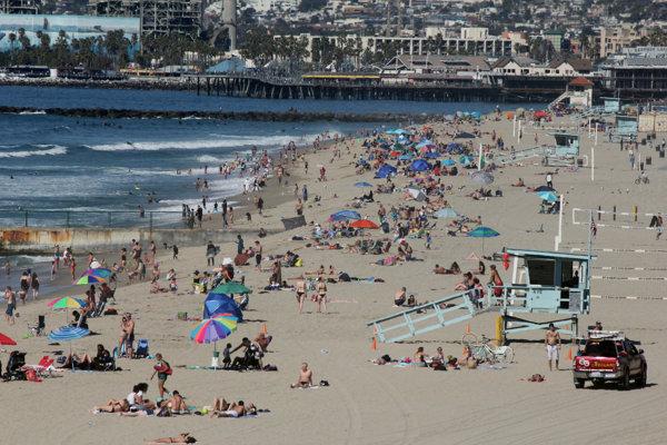 Pláž v Kalifornii.