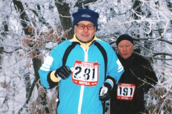 Alojz Podolák bol jedným z prvých účastníkov Zoborského silvestrovského behu.