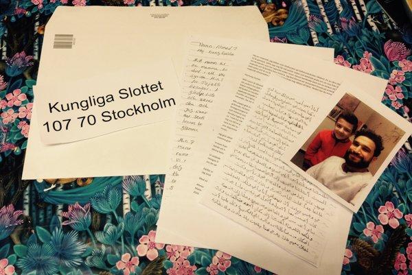 List švédskemu kráľovi napísal chlapec najprv v arabčine.