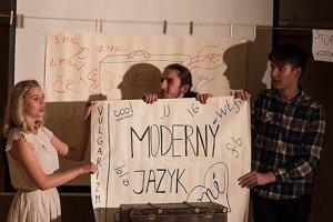 Záber z divadelného predstavenia SLOVO