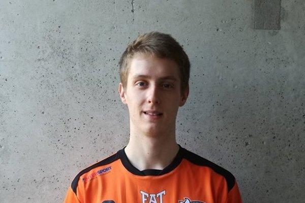 Adam Hrín v drese klubu O2-Jyväskylä Akatemia.