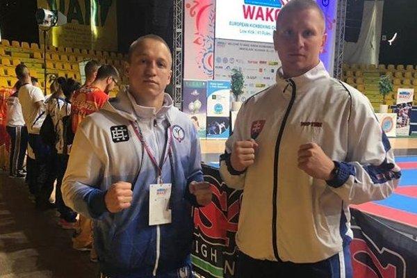 Dalibor Ficek (vľavo) so svojím trénerom Miroslavom Cingelom.