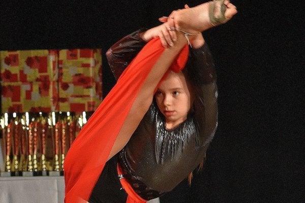 Víťazka tanečnej súťaže.