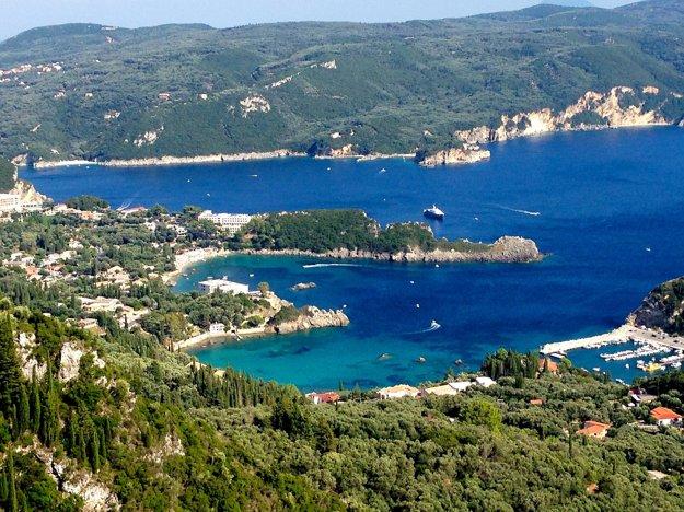 Ostrov Korfu, Grécko.