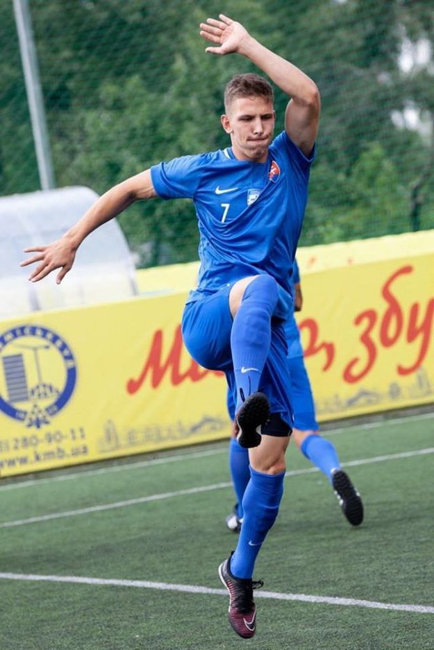 Dominik Rolinec v reprezentačnom drese.
