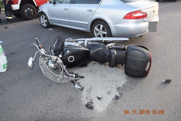 Nehoda v Michalovciach.