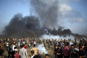 Protesty v pásme Gazy.